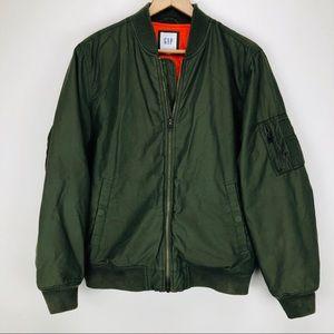 "Gap Men's ""New Vintage Bomber"" Jacket Army Green"